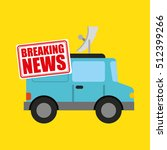 breaking news concept icon... | Shutterstock .eps vector #512399266