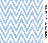 seamless ikat chevron pattern | Shutterstock .eps vector #512400106