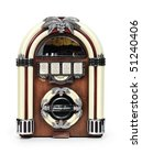 Retro Juke Box Radio Isolated...