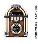 Retro Juke Box Radio Isolated...