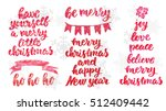 hand drawn lettering design.... | Shutterstock .eps vector #512409442