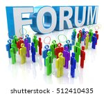 forum group discussion in the...   Shutterstock . vector #512410435
