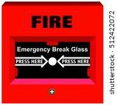 vector fire alarm emergency... | Shutterstock .eps vector #512422072