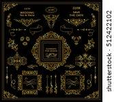 vector set of vintage elements... | Shutterstock .eps vector #512422102