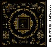 vector set of vintage elements... | Shutterstock .eps vector #512422126