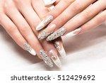 beautifil wedding manicure for... | Shutterstock . vector #512429692