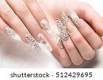 beautifil wedding manicure for... | Shutterstock . vector #512429695