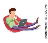 cartoon vintage geek eager...   Shutterstock .eps vector #512429698