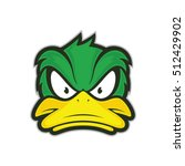 angry duck mascot | Shutterstock .eps vector #512429902