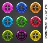 set of multicolored button...