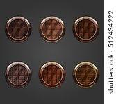 set of shiny chocolate  circle...