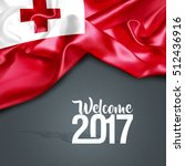 welcome 2017 tonga. 3d... | Shutterstock . vector #512436916