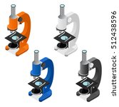 colorful microscope icon set... | Shutterstock .eps vector #512438596