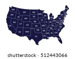 map of usa | Shutterstock .eps vector #512443066