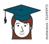 student graduation uniform icon | Shutterstock .eps vector #512455972