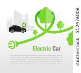 electric car silhouette car and ... | Shutterstock .eps vector #512476006