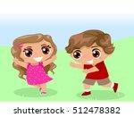 illustration of a kids girl and ... | Shutterstock .eps vector #512478382