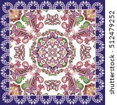 bright bandanna with paisley ... | Shutterstock .eps vector #512479252