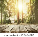 forest in summer  with... | Shutterstock . vector #512484286