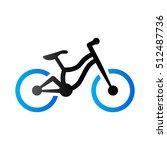 mountain bike icon in duo tone...   Shutterstock .eps vector #512487736