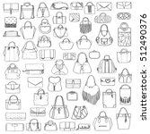 large vector set of black and... | Shutterstock .eps vector #512490376