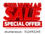 christmas sale special offer... | Shutterstock . vector #512492245