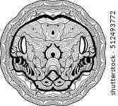 dangerous boa is drawn by hand... | Shutterstock .eps vector #512493772