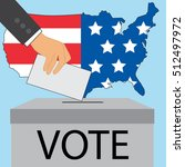 election in united states of... | Shutterstock .eps vector #512497972