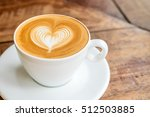 close up white coffee cup with... | Shutterstock . vector #512503885