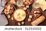 cheese fondue swiss | Shutterstock . vector #512510332