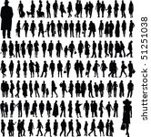 collection of people silhouettes | Shutterstock .eps vector #51251038