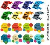 set of sale discount labels ... | Shutterstock .eps vector #512512942