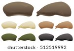 a selection of flat caps in... | Shutterstock .eps vector #512519992
