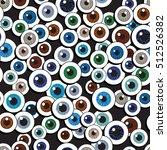 Cartoon Eyeballs. Seamless...