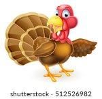 cartoon thanksgiving or... | Shutterstock .eps vector #512526982