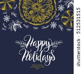 winter card. the lettering  ... | Shutterstock .eps vector #512531515
