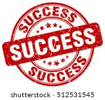 success stamp.  red round... | Shutterstock .eps vector #512531545