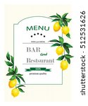 vintage hand drawn menu for... | Shutterstock .eps vector #512531626