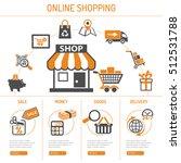 online internet shopping... | Shutterstock .eps vector #512531788