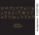 christmas element icons gold... | Shutterstock .eps vector #512537182