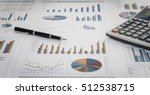 financial graph and chart... | Shutterstock . vector #512538715
