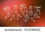 fresco view of gift hand drawn... | Shutterstock . vector #512548342