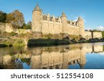 oust river and the chateau of... | Shutterstock . vector #512554108