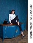 sexy beautiful woman dark... | Shutterstock . vector #512555332