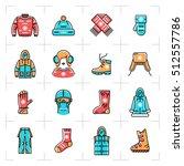 vector winter clothes vector... | Shutterstock .eps vector #512557786