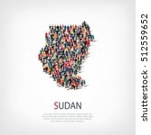 people map country sudan vector