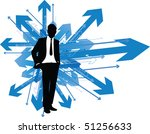business man which way   Shutterstock .eps vector #51256633