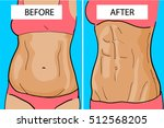 weight loss before and after | Shutterstock .eps vector #512568205