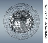 abstract sphere with shiny cube ...   Shutterstock . vector #512573896