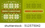 christmas card with  knitted... | Shutterstock .eps vector #512575042